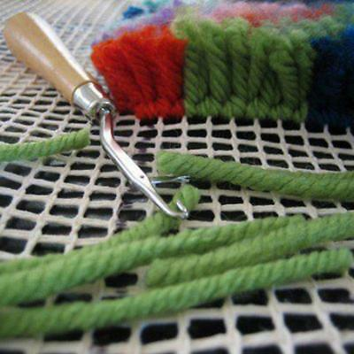 Wooden Handle Crochet Needle Latch Hook Puller For Canvas Rug Mats Making AA