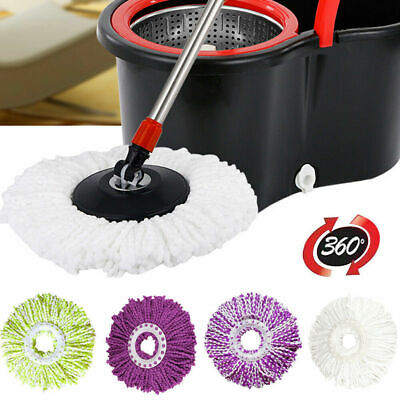 Home Cleaning 360 Round Spin Microfiber Magic Mop Refill Replacement Mop Head US