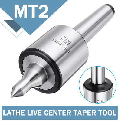 Center Taper CNC Precision Turning Equipment Live Shaft Triple bearing