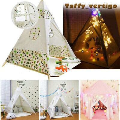 Kids Teepee Wigwam Childrens Play Tent Childs Garden Foldable Out /Indoor UK