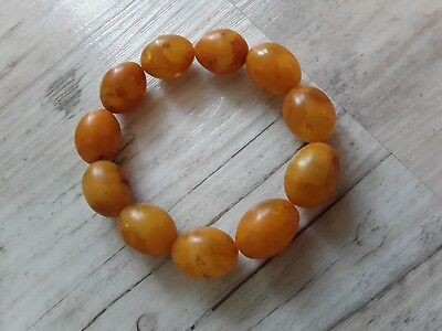 Bernsteinarmband Baltic Amber Bracelet Butterscotch Olives 19 mm
