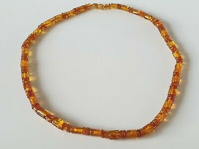 Bernsteinkette Baltic Amber Necklace Cognac Beads