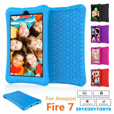 Shockproof Silicone Case Covers For 7'' Amazon Kindle Fire 7 2017/2019 Tablet UK