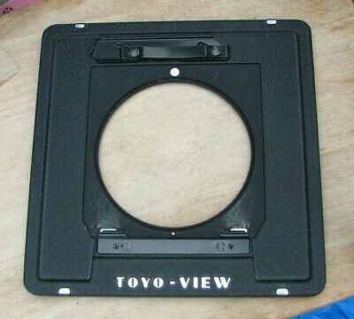 genuine Toyo monorail to Linhof style 5x4 10 x 8 cast  lens board  adapter