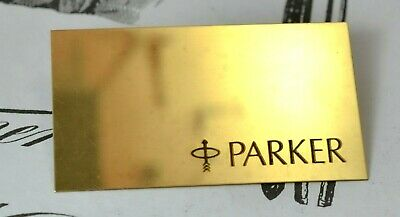 Vintage Parker Advertising in Brass, USA (#x6020)