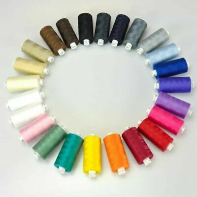 Coats Moon Tkt120 Box Of 24 Reels Spun Polyester Sewing Thread Mix Stand Colours