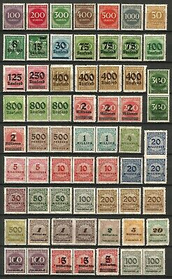 Germany (Weimar Rep.) 1923 MNH/MH - Collection Inflation Issues Singles Pairs