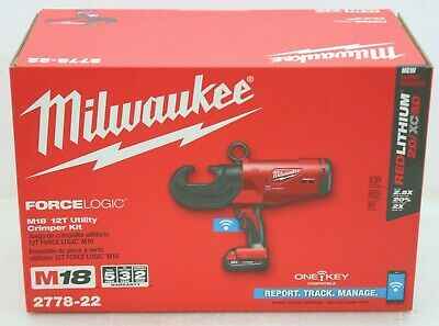 Milwaukee 2778-22 M18 Forcelogic 12T Cordless Utility Crimping Tool Kit - NEW