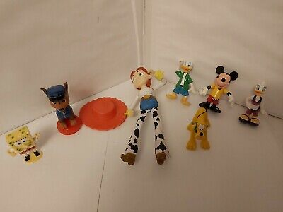 Bundle Disney Figures, Jessie from Toy Story, Mickey Mouse, Donald Duck, Daisy.