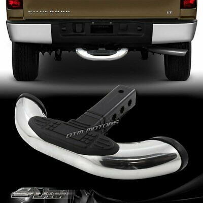 """1.25""""/2"""" Receiver Stainless Towing Trailer Hitch Cover Back Step Bar Universal 4"""