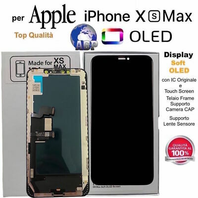 Display LCD Soft OLED Touch Screen Apple iPhone XS MAX Nero 6,5 Originale TIANMA