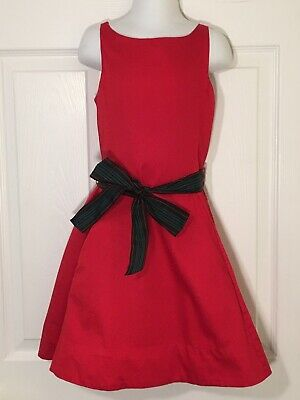 Polo Ralph Lauren Red A Line Sleeveless Holiday Christmas Dress Girls Size 6