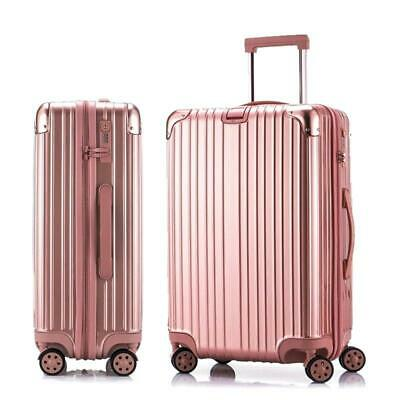 28'' Hard Shell Cabin Suitcase 4 Wheel Luggage Trolley Case Lightweight Rosegold