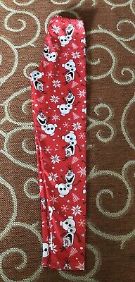 WALT DISNEY OLAF FROZEN PRINT JUNIORS SIZE Small RED COLOR SNOWFLAKE