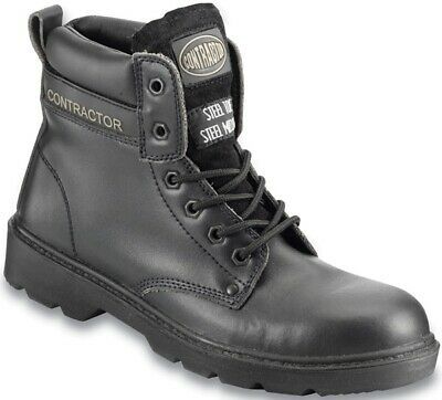 Black Leather Boot 7 802SM07 Contractor Genuine Top Quality Product New