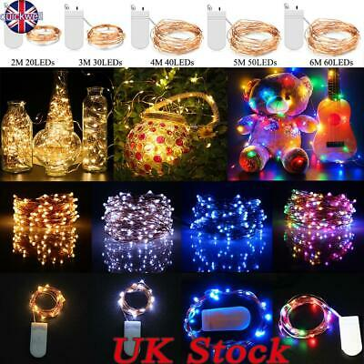 LED Battery Micro Rice Wire Copper Fairy String Lights Xmas Party In/Outdoor