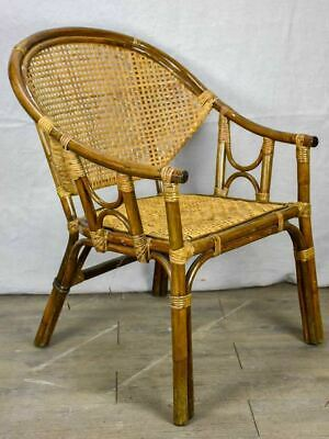 Mid century French cane and bamboo armchair
