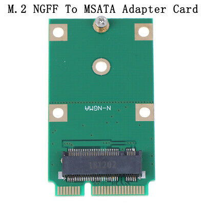 1Pc Mini PCI-E 2 Lane M.2 NGFF 30mm 42mm SSD To 52pin mSATA Adapter Card.ES