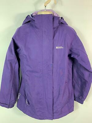 Girls Mountain Warehouse Purple Light Weight Hood Jacket Coat Kids Age 9/10 Year
