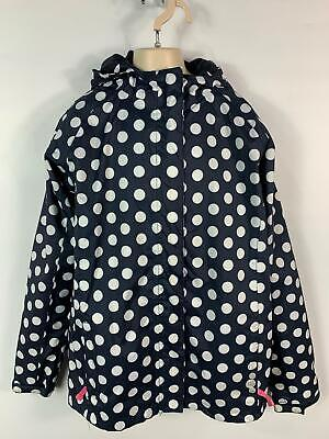 Girls Peter Storm Blue&White Light Weight Hooded Jacket Coat Kids Age 13 Years