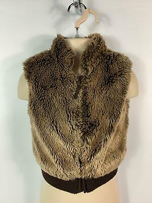 Girls Marks&Spencer Brown Faux Fur Gilet Body Jacket Coat Kids Age 2/3 Years