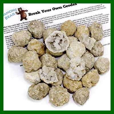 "25 Break Your Own Geodes 90% Hollow SMALL 1 1.5"" Crack Open & Discover Amazing S"