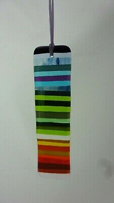 Rainbow fused glass suncatcher