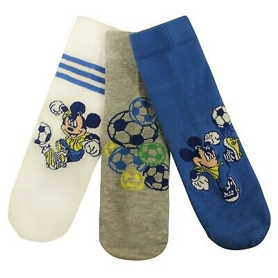 Adidas Disney Mickey Mouse 3 Pack Boys Kids Socks F49922 A183C