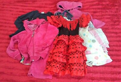 5. Girls Age 3 Disney Minnie Mouse Top Jacket Dress Up Pyjamas Clothes bundle