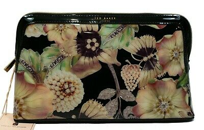 Ted Baker Jooplin Toiletry Wash Make Up Bag Large Floral Black