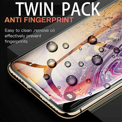 Tempered Glass Screen Protector for iPhone 11 Pro Max XS XR XS X PRO Twin Pack