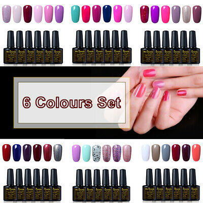 MS.QUEEN UV LED Gel Nail Polish Set Need No Wipe Top Base Coat Lacquer Manicure