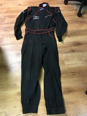 Vintage SPARCO Mechanics overalls Black with a red edging Size XL not for race