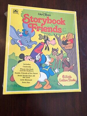 Vtg Walt Disney Little Golden Books Boxed Set 6 Sealed New Storybook Friends Yel