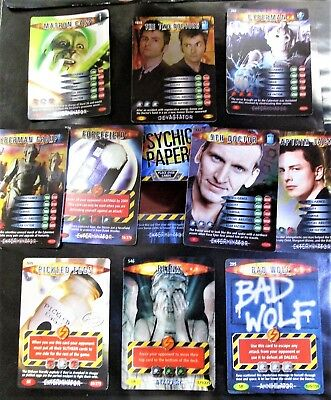 Doctor Who collectable Battle in Time card bundle ULTRA, SUPER and rares.psychic