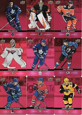 U PICK EM LOT 2019-20 19-20 Upper Deck UD Tim Hortons Red Die-Cut Parallel Set