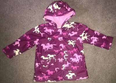 Girls Hatley Pink Pony Horse Coat Jacket Age 2 Years Used A Handful Of Times