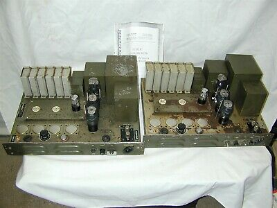 US Signal Corps Western Electric 6L6 Tube UTC Power Amplifiers [Pair]