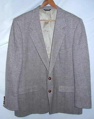 FRANK BROTHERS Mens Wool Brown Patterned Two Button Sport Coat Blazer Sz 40