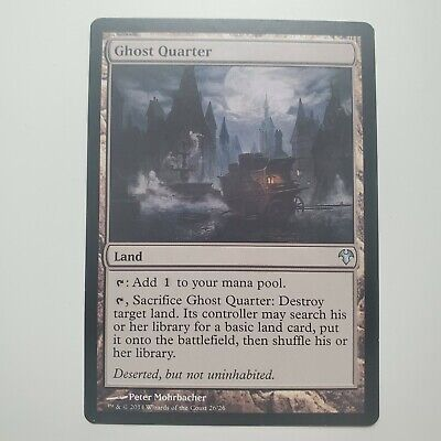 1 PreCon Ghost Quarter Land Modern Event Deck Mtg Magic Uncommon 1x x1
