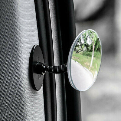 Car 360° Blind Spot Rimless Side Mirror Adjustable Safety Lens Universal Parts