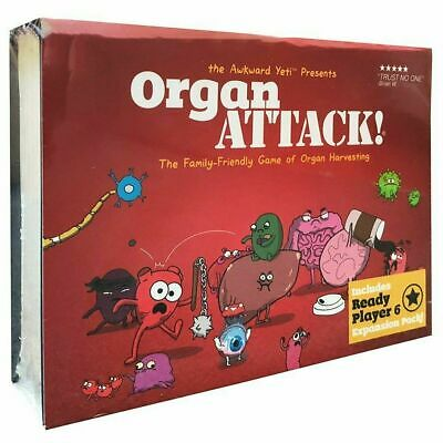 Organ ATTACK!  New Party Cards  Family Friendly Funny Board Game, AU Stock