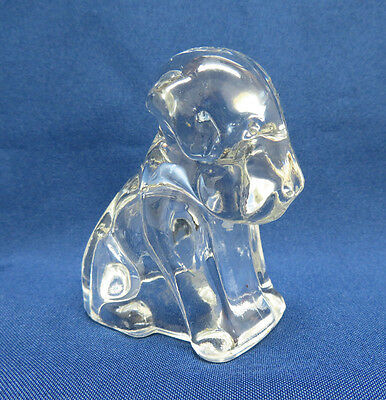 Vintage Federal Pressed Glass Dog Candy Container
