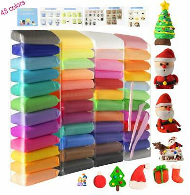 48 Pcs Assorted Colors Air Dry Clay Modeling With Tools Non Toxic Activity Toys
