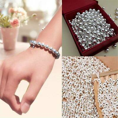 Lots 100pcs Stainless Steel Round Ball Spacer Beads DIY Jewelry Making Findings