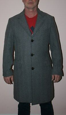 United Colors Of Benetton Men Coat Wool Size 52