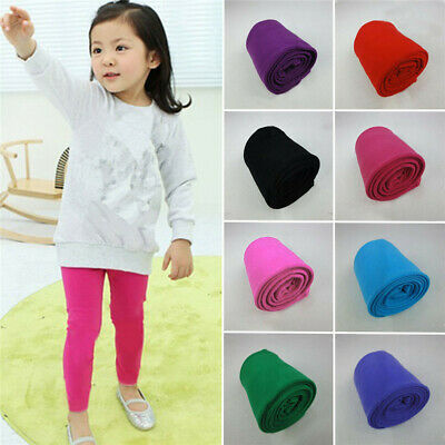 Kids Girls Toddler Winter Warm Velvet Stretchy Thermal Trousers Pantyhose~