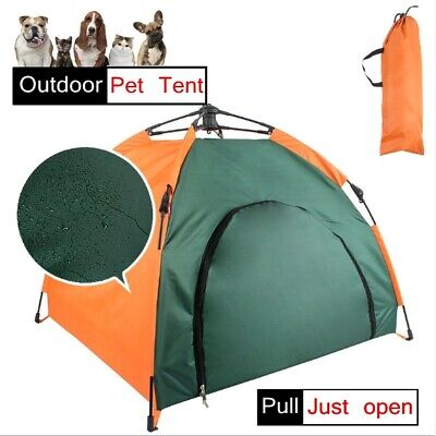 Portable Pet Sun Shelter House Outdoor Camping Folding Tent Dog Indoor Bed