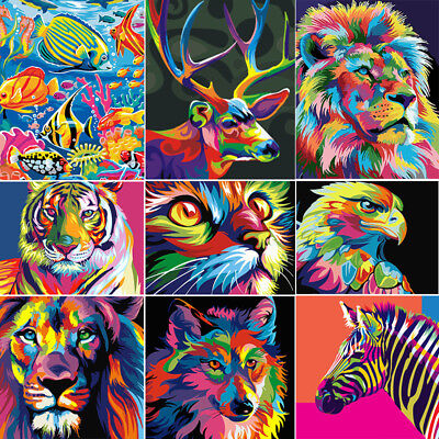Animals DIY Paint By Numbers Kit Oil Painting On Canvas Home Wall Decor Acrylic