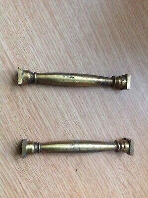 Antique Columns Quality Solid Brass 78x6mm Ex Clockmakers Spare Parts Collection